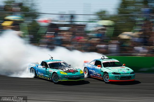 Keep your friends close, and your frenemies closer @falkentire | @odidrift vs. @mattfield777  See who claims victory at RD1: The Streets of Long Beach on Apr 5-6th. Tickets on Sale Now: (link in bio)