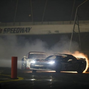 Stargazing, tire blazing @dirk_stratton | @achillestire vs. @piotrwiecek | @falkentire Full steam ahead to @oreillyautoparts RD1: The Streets of Long Beach presented by @permatexusa on Apr 5-6th. Tickets on Sale Now: (link in bio) #FormulaD #FormulaDRIFT