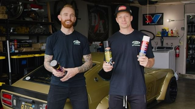 @blackmagicshine is proud to announce three new products to help clean and protect your tires and wheels this Spring: Intense Wheel & Tire Cleaner Aerosol, Bleche-Wite Tire Cleaner Aerosol, and Tire Protectant with UV Guard. Behold as FD's @chrisforsberg64 and @ryantuerck unveil them now!
