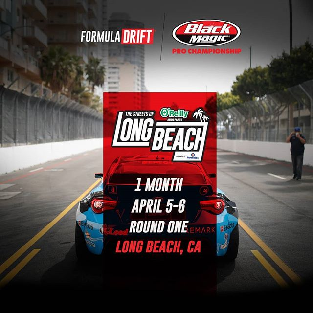 All roads lead to a great season! We're 1 month away!  FD 2019 | @blackmagicshine Get excited for @oreillyautoparts RD1: The Streets of Long Beach presented by @permatexusa on Apr 5-6th. Tickets on Sale Now: (link in bio)