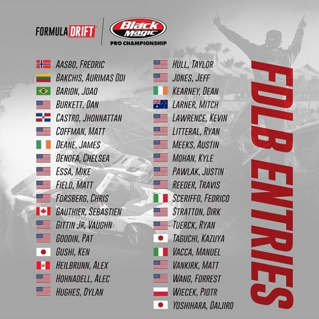 ATTENTION! Here are the drivers for the 2019 Formula Drift season! Who are you rooting for!? FD 2019 | @BlackMagicShine Cheer them all on at @oreillyautoparts RD1: The Streets of Long Beach presented by @permatexusa on Apr 5-6th. Tickets on Sale Now: (link in bio) #FormulaD #FormulaDRIFT