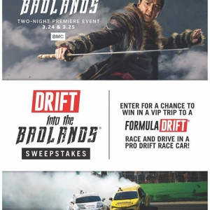 Enter the badlands of drifting if you dare, for the chance at the ultimate experience! Find out how at: (link in bio) And watch the 2-night premiere event of @IntotheBadlandsAMC this weekend! #FormulaD #FormulaDRIFT