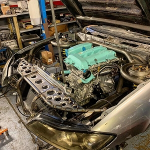 Gusseting starting to go in on the front removable section, really ties the car together 🏻 ️ ️ ️ ️ ️ ️ ️ ️ ️ ️ ️ #sr #Nissan #s15 #silvia #silvias15 #s15silvia #sr20det #engine #car #turbo #sbody #schasis #stance #stancenation #metalwork #fabrication #slammed #instagram #restoration #s13 #s14 #s14a #photooftheday #silvianation #sxoc #rollcage #drift #drifting #driftcar #showcar