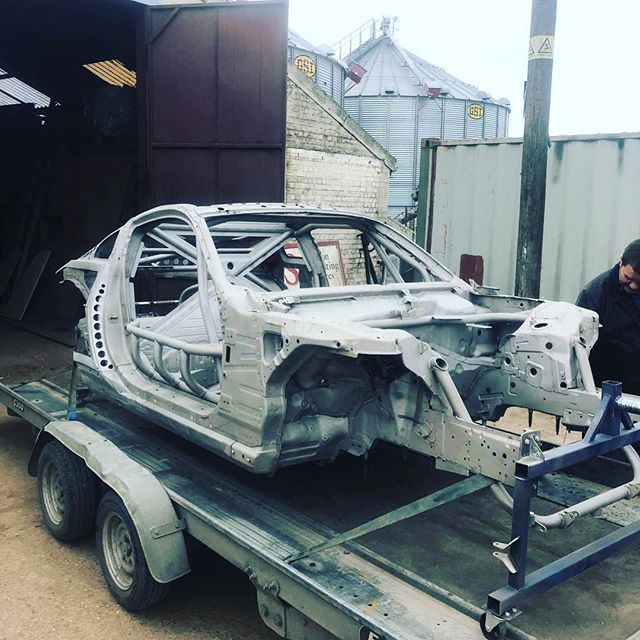 It's fresh out the shed after blasting and now on it's way for paint.      @obpmotorsport  @goodridgeltd  @aet_turbos  @aetmotorsport  @turbosmarthq @xtremeclutch @paint_tec_refinishing @sparco_official  @gsmperformance  @_wisefab_  @yellowspeedracing  @epracing_ltd  @apwengineering @pipercrossairfilters @sfs_performance_hoses @ebcbrakesofficial  @fiveoracing  @fiveomotorsport