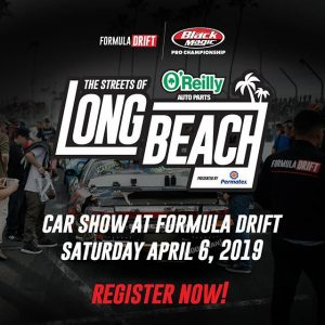 It Goes Down at The Streets of Long Beach! Display your vehicle at Formula Drift RD1 on Apr. 6th. Registration Open Now: bit.ly/FDCARSHOW2019 #FormulaDRIFT #FormulaD #FDLB
