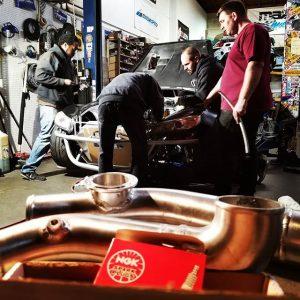 Team Work @zerekfabrication #KyleMohanRacing #rx8 #drifting #drift #formulad #turbo #boost #Mazda