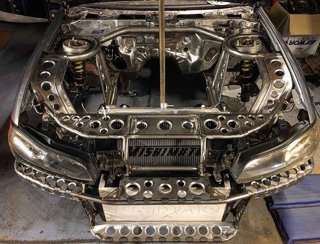 That ladies and gents is the tube work all finished on the front end  just a little something extra on the front end to come at a later date.....  ️ ️ ️ ️ ️ ️ ️ ️ ️ ️ ️ #sr #Nissan #s15 #silvia #silvias15 #s15silvia #sr20det #engine #car #turbo #sbody #schasis #stance #stancenation #metalwork #fabrication #slammed #instagram #restoration #s13 #s14 #s14a #photooftheday #silvianation #sxoc #rollcage #drift #drifting #driftcar #showcar