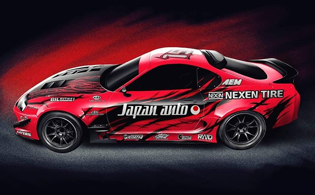 The supra with looks to kill! What do you think about Pro 2 driver, @olajaeger | @nexentireusa, new livery for Chucky?  FD 2019 | @link_ecu