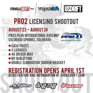 Think you got what it takes!? Registration for Pro 2 Licensing Shootout opens soon! See @vegasdrift for more details. #FormulaD #FormulaDRIFT