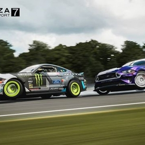 This is WILD! You can download your very own @vaughngittinjr and @chelseadenofa's Spec 5-Ds AND the Mustang RTR Spec 5 for Forza Motorsports 7!! FD 2019 | @BlackMagicShine @oreillyautoparts RD1: The Streets of Long Beach presented by @permatexusa on Apr 5-6th. Tickets on Sale Now: (link in bio) #FormulaD #FormulaDRIFT