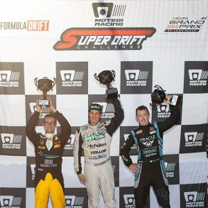 @motegiracing Super Drift Challenge Saturday Results: 1) @forrestwang808 2) @deankarnage 3) @federicosceriffo17 #FormulaDRIFT #FormulaD #FDLB