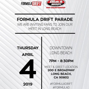 Don't miss out! Tonight is the #FDLB parade! 🤘 #FormulaDRIFT #FormulaD
