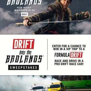 Don't just meet the pros, ride with the pros! Enter here: (link in bio) A new episode @intothebadlandsamc is on MONDAYS 10/9c! #FormulaD #FormulaDRIFT