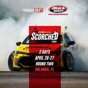 If you can't stand the heat, get out of the kitchen! Full speed ahead for @autozone RD2: Scorched presented by @blackmagicshine in Orlando, FL. Apr 26-27. Tickets: (link in bio) #FormulaD #FormulaDRIFT #FDORL