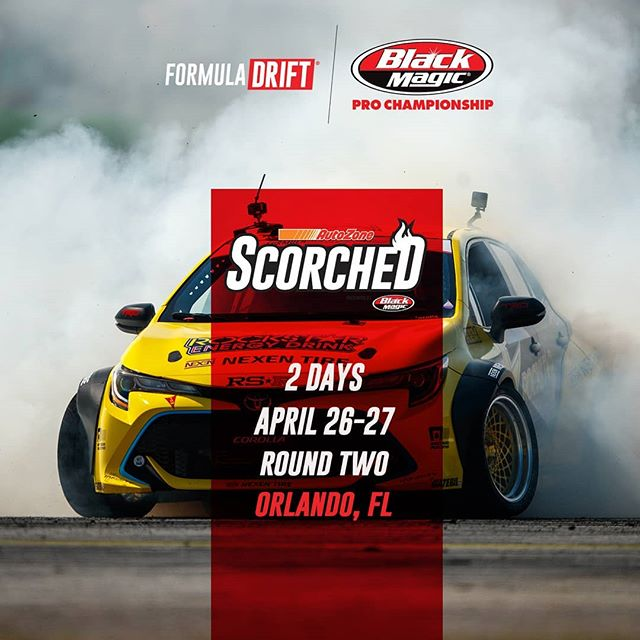 If you can't stand the heat, get out of the kitchen!  Full speed ahead for  @autozone RD2: Scorched presented by @blackmagicshine in Orlando, FL. Apr 26-27. Tickets: (link in bio)