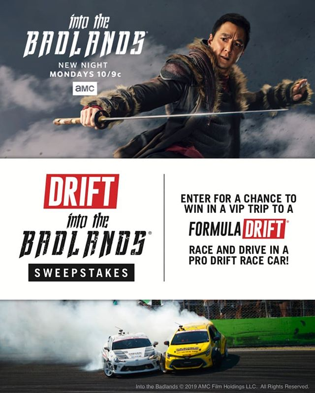 Let's cut to the chase - VIP experience to an upcoming race and chance to ride in a pro drift car? Why haven't you already entered again: (link in bio)  A new episode @intothebadlandsamc is on MONDAYS 10/9c!