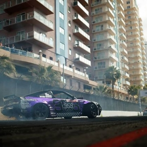 Purple Reign of Terror @coffmanracing | @nexentireusa Getting warmed up for @autozone RD2: Scorched presented by @blackmagicshine in Orlando, FL. Apr 26-27. Tickets: (link in bio) #FormulaD #FormulaDRIFT #FDORL