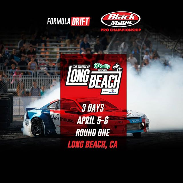 Start your engines, we're only three days away from kicking off a new season!  FD 2019 | @BlackMagicShine  Won't be long until we meet again at @oreillyautoparts RD1: The Streets of Long Beach presented by @permatexusa on Apr 5-6th. Tickets on Sale Now: (link in bio)  #FormulaDRIFT
