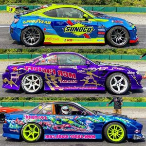 2019 @formuladjapan liveries: skittles edition. #formuladrift #formuladriftjapan #drifting #driftcarliveries #fdliveries #s14 #s13 #gt86