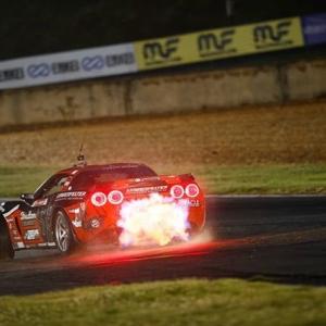 @dirk_stratton with the fire! . #formuladrift #formulad #fdatl :@larry_chen_foto