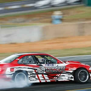 @kenricm3yer qualified FIRST for Pro 2 here in Atlanta! @link_ecu . #formuladrift #formulad #fdatl :@larry_chen_foto