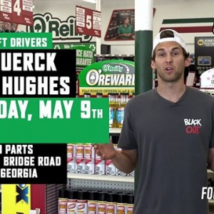 Can't wait to see our FD Drivers in action at #FDATL this weekend? Meet @RyanTuerck & @DylanHughes129 at @oreillyautoparts Thursday May 9 from 6-7PM! 1308 Browns Bridge Road, Gainesville, GA. #FormulaDRIFT #FormulaD