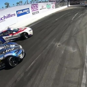 """Check out the Premiere Episode of """"FD Moments"""" featuring @jamesdeane130 vs @deankarnage. Watch the Full Video: (Link in Bio) Sponsored by @NosEnergyDrink #FormulaDRIFT #FormulaD"""