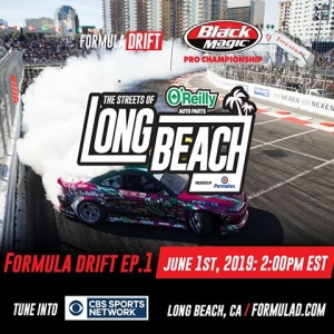Relive the Streets of Long Beach this weekend! Watch Formula Drift Ep.1 on @CBSSports - June 1st at 11AM PST | 2PM EST Check your local listings. FD 2019 | @BlackMagicShine #FormulaDRIFT #FormulaD #CBSSports