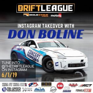 This Saturday @donshredda will be officially taking over @thedriftleague's Instagram page! If you can't make it out to the event, be sure to tune in for some behind-the-scenes action from Don's POV 😎 ••Round 2 of @thedriftleague is presented by @milestar.tires & @motoiq and is on June 1st at @irwindalespeedway   gates open at 3 PM   Visit TheDriftLeague.com for more info! Tickets are $15 at the gate. #thedriftleague #MotoIQ #FormulaDRIFT #irwindalespeedway #milestar #milestartires #patagoniamt #theofficialtireofadventure @obpmotorsport #obpmotorsport