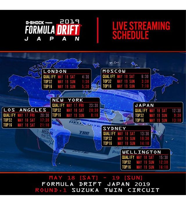 Watch Formula DRIFT JAPAN RD1: (Link in Bio) -Live Stream (PST) - Top 32: May 18 - 530PM  Top 16: May 18 - 910PM