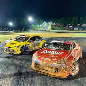 Wet & wild night at @formulad Atlanta! Congrats to @fredricaasbo in 1st, @ryantuerck in 2nd and @jamesdeane130 in 3rd on a sloppy & slippy track. #formuladrift #formulad #drifting #fdatl