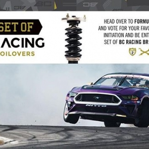 Win a Set of @BCRacingNA Custom Coilovers! Head over to formulad.com/bcracing (link in bio). Vote for your favorite BC Racing Drift Initiation and be Entered to Win! #FormulaDRIFT #FormulaD #FDATL