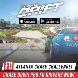 You can now chase down Formula Drift drivers on your phone in @TorqueDrift! Download from the app store and lay down you best chase run at #FDATL against some of your favorite FD drivers in special events that are running over the weekend. #FormulaDRIFT #FormulaD