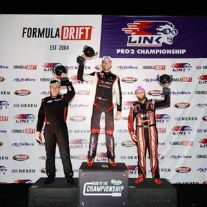 Your FD 2019 #FDATL   @link_ecu Podium! 1) @joshrobinson530 2) @kenricm3yer 3) @denton_motorsport @oreillyautoparts RD3: Road to the Championship presented by @Permatexusa #FormulaDRIFT #FormulaD