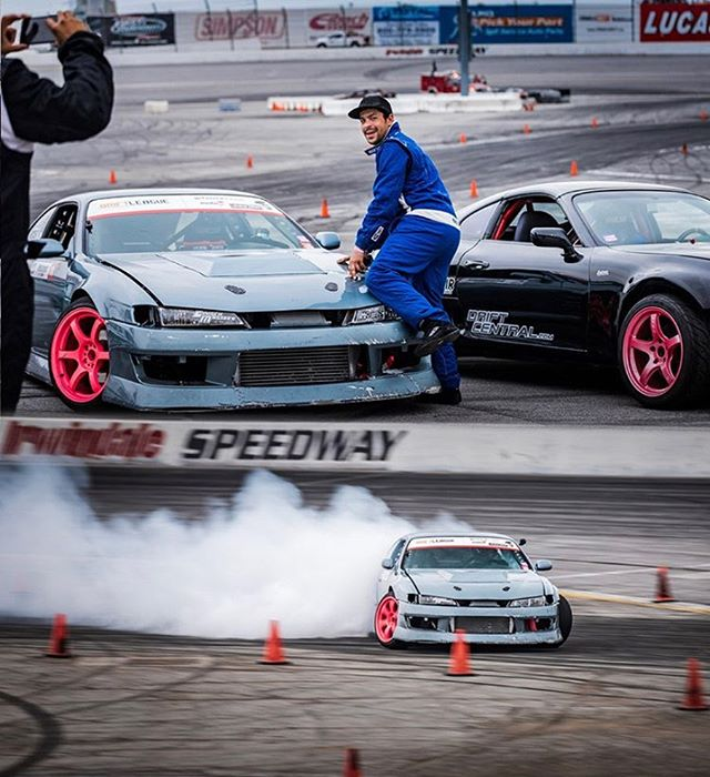 BE  YOUR  OWN  MODEL   Here's @aarondrifts showing us his moves at Round 2 of @thedriftleague ♀️ 📸 @gorillatornado