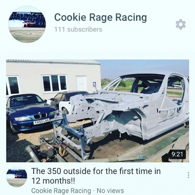 Sorry it's been so long guys but check out my latest vlog on the progress of my 350z build!! Link in my bio.    @sr_autobodies @goodridgeltd @aet_turbos @aetmotorsport @turbosmarthq @obpmotorsport @xtremeclutch @paint_tec_refinishing @sparco_official @gsmperformance @_wisefab_ @yellowspeedracing @epracing_ltd @apwengineering @pipercrossairfilters @sfs_performance_hoses @ebcbrakesofficial @fiveoracing @fiveomotorsport #drift #drifting #driftcar #sparco #nissan #350z #350znation #350 #znation #zociety #toyota #2jz #nismo #welding #weldporn #race #racecar #money #thursday #picoftheday #cookies #cookie #m #a #r #k #cookierageracing #cantstopwontstop