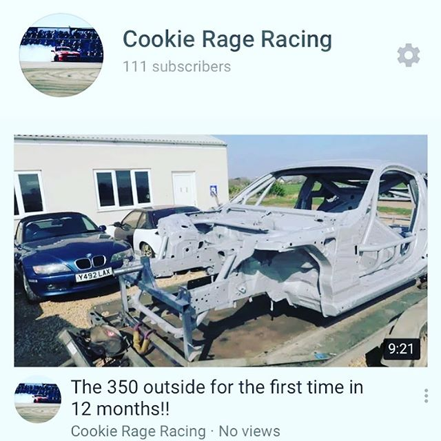 Sorry it's been so long guys but check out my latest vlog on the progress of my 350z build!! Link in my bio.     @sr_autobodies @goodridgeltd  @aet_turbos  @aetmotorsport  @turbosmarthq @obpmotorsport @xtremeclutch @paint_tec_refinishing @sparco_official  @gsmperformance  @_wisefab_  @yellowspeedracing  @epracing_ltd  @apwengineering @pipercrossairfilters @sfs_performance_hoses @ebcbrakesofficial  @fiveoracing  @fiveomotorsport