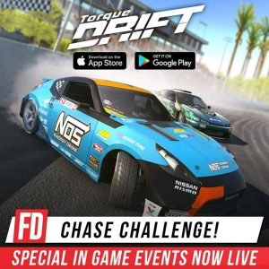Special in game events are now running within the @TorqueDrift mobile game! Chase down your favourite FD drivers in Chase Challenge events throughout the #FDNJ round! Download now on your phone! Www.TorqueDrift.com/PlayGame #FormulaDRIFT #FormulaD #TorqueDrift