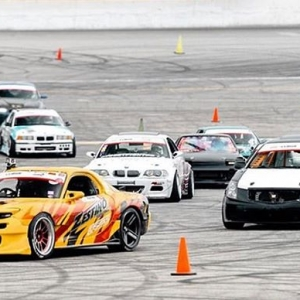 Squad rollin deep at Round 2 of The Drift League!  @sognar.me #thedriftleague #motoiq #milestartires #irwindalespeedway