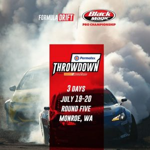 3 more days and the chase is on! FD 2019 | @BlackMagicShine Get your tickets now for @PermatexUSA RD5: Throwdown presented by @autozone in Monroe, WA. July 19-20! Tickets: (link in bio) #FormulaDRIFT #FormulaD #FDSEA