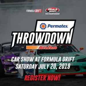 Think you're up for the challenge? This is your chance to be part of @PermatexUSA RD5: Throwdown presented by @autozone in Monroe, WA! Register now to display your vehicle: (link in bio) FD 2019 | @BlackMagicShine #FormulaDRIFT #FormulaD #FDSEA