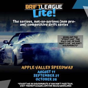 We have some exciting news for everyone...we are proud to announce our new series called The Drift League Lite! It will be a fun competition held at @applevalleyspeedway starting next month! TDL Lite is intended to be open for all types of builds and driving levels. Swipe left to learn more about the tech guidelines and rules. Stay tuned for more info, including qualifying/competition formats, prizes, and how to register! #TheDriftLeague #TheDriftLeagueLite #TDLLite #MotoIQ #AppleValleySpeedway