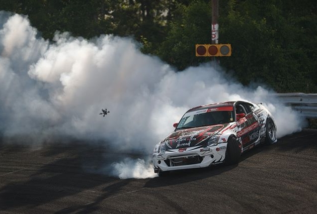 When the drones in the area, Drift it like it's hot!  @RyanLitteral | @NexenTireUSA FD 2019 | @BlackMagicShine It's going to be LIT at @PermatexUSA RD5: Throwdown presented by @autozone in Monroe, WA. July 19-20! Tickets: (link in bio) #FormulaDRIFT #FormulaD #FDSEA