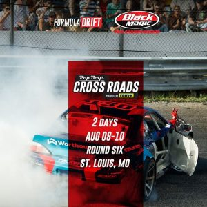 2 days until the actions comes to @PepBoysAuto RD6: Crossroads presented by @OfficialRainX in St. Louis, MO. August 9-10 Tickets: (link in bio) FD 2019 | @BlackMagicShine #FormulaDRIFT #FormulaD #FDSTL