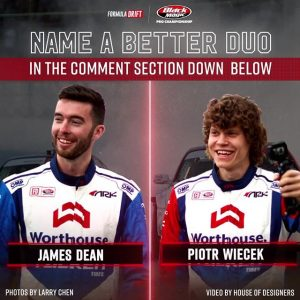 Name a better duo than @jamesdeane130 & @piotrwiecek | @falkentire in the comment section below! FD 2019 | @BlackMagicShine #FormulaDRIFT #FormulaD #FDSTL