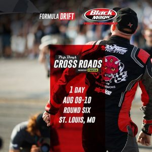 Tomorrow. @PepBoysAuto RD6: Crossroads presented by @OfficialRainX in St. Louis, MO. August 9-10 Tickets: (link in bio) FD 2019 | @BlackMagicShine #FormulaDRIFT #FormulaD #FDSTL