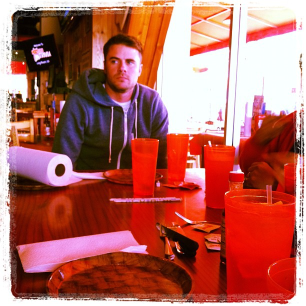 Dagger's Bday. Real classy, we took him to Hooters.