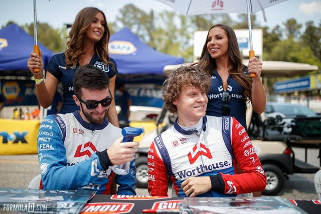 @falkentire teammates @jamesdeane130 and @piotrwiecek staying cool at HOTLANTA  COMMENT if you were at the driver autograph session at NAPA Auto Parts RD3: Road to the Championship presented by @officialrainx