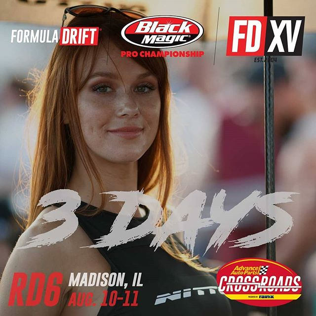 3 days until we are back on deck!  Counting the days until @advanceautoparts RD6: Crossroads presented by @officialrainx in Madison, IL. on Aug 10-11. Tickets: (link in bio)