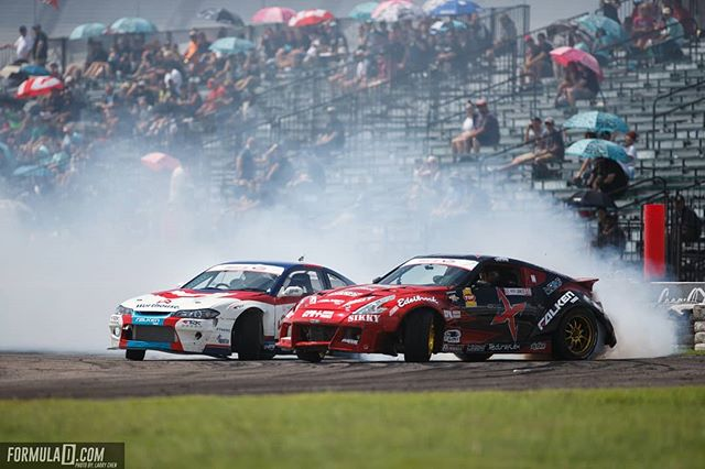 """A new meaning to """"going door-to-door"""" @jeffjonesracing vs. @jamesdeane130 